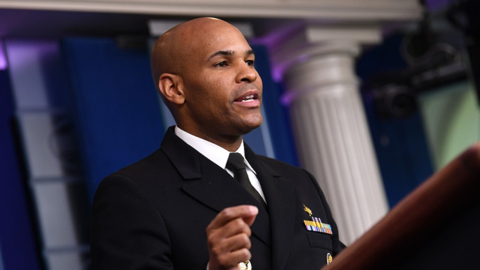 Mandatory Credit: Photo by Shutterstock (10609544bk) United States Surgeon General Vice Admiral (VADM) Jerome M. Adams, M.D., M.P.H. delivers remarks during President Donald J. Trump's Coronavirus Task Force briefing, at the White House in Washington, D.C.. Trump Coronavirus Task Force press briefing at the White House, Washington, District of Columbia, USA - 10 Apr 2020